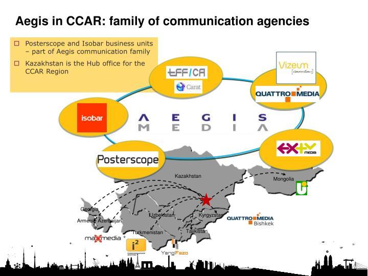 Aegis in CCAR: family of communication agencies