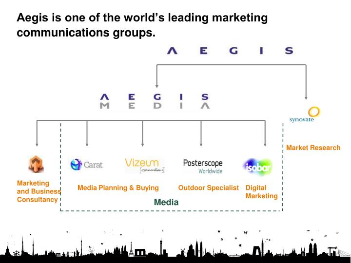 Aegis is one of the world's leading marketing communications groups.