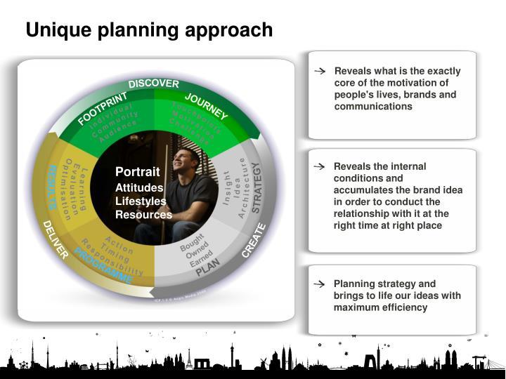 Unique planning approach