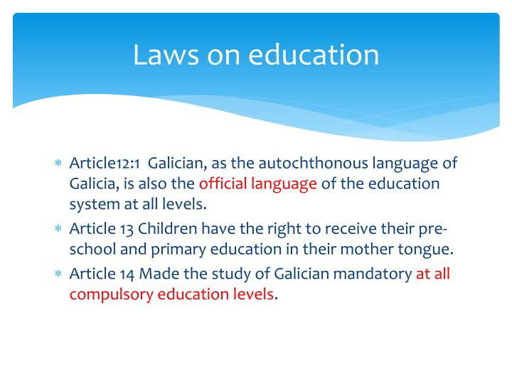 Laws on education