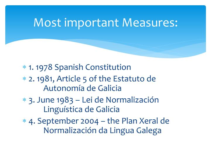 Most important Measures: