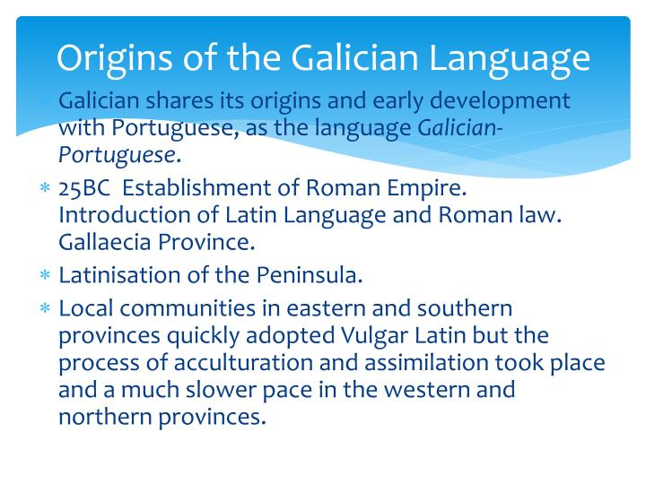Origins of the Galician Language