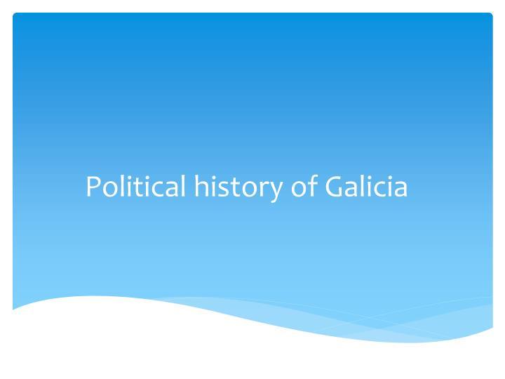 Political history of Galicia