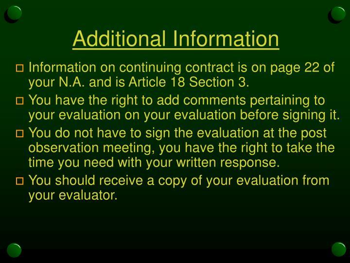 Additional Information