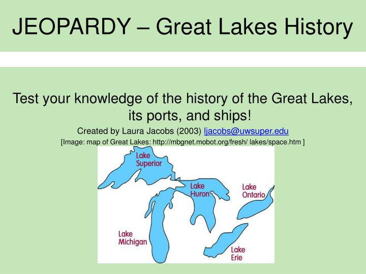 Jeopardy great lakes history