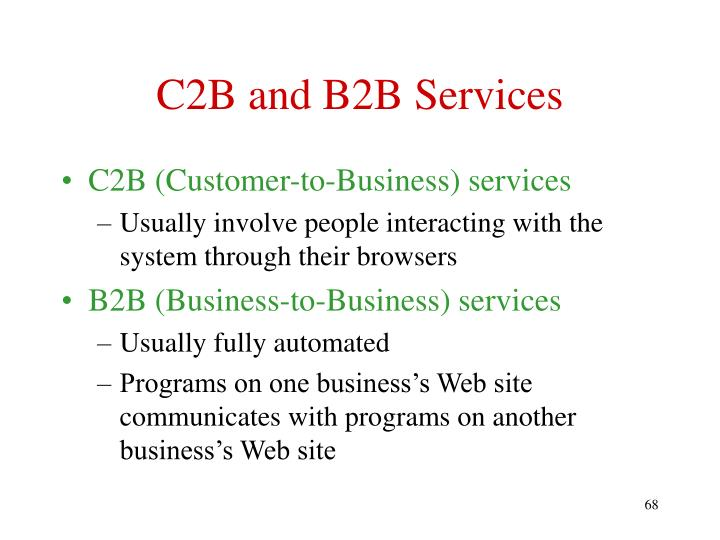 C2B and B2B Services