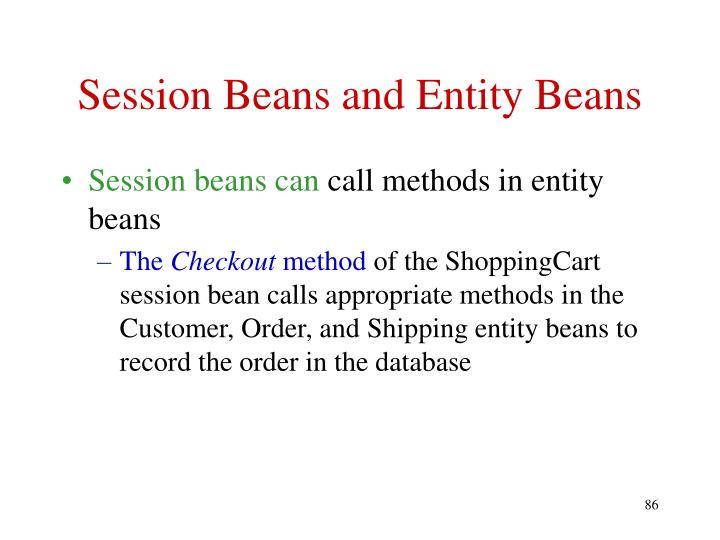 Session Beans and Entity Beans
