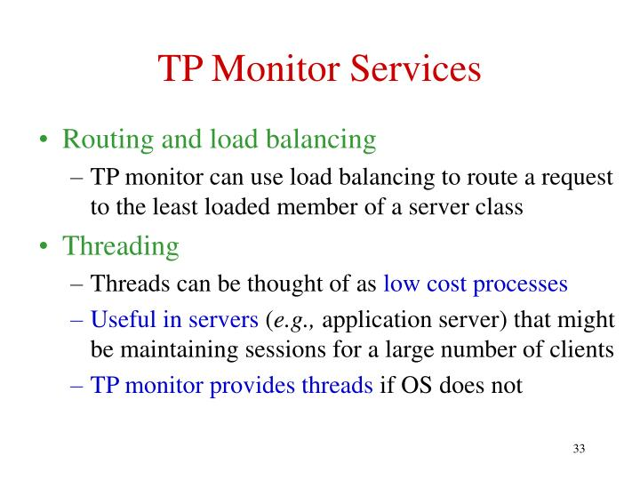 TP Monitor Services