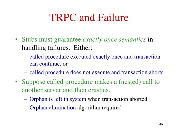 TRPC and Failure