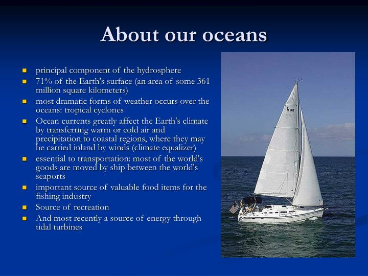 About our oceans
