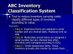 abc inventory classification system