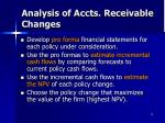 analysis of accts receivable changes