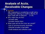 analysis of accts receivable changes1