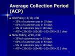 average collection period acp