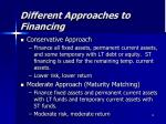 different approaches to financing1