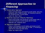 different approaches to financing2