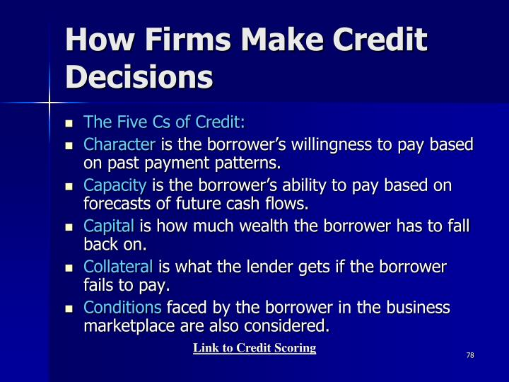 How Firms Make Credit Decisions