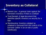 inventory as collateral1