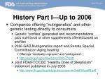 history part i up to 2006