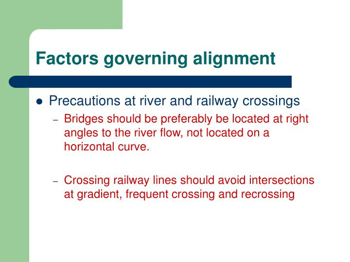 Factors governing alignment
