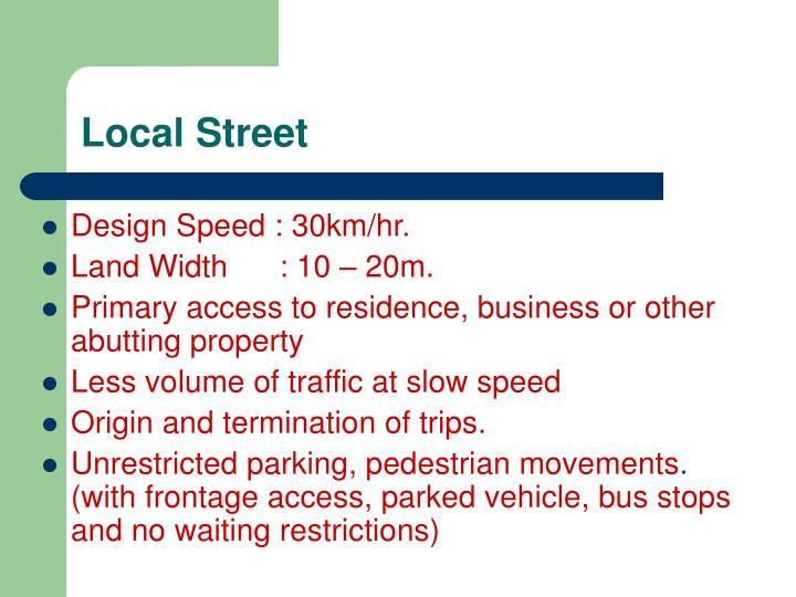 Local Street