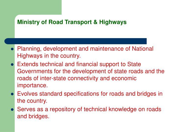 Ministry of Road Transport & Highways