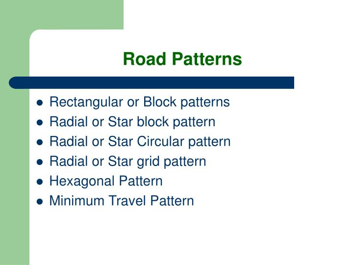 Road Patterns