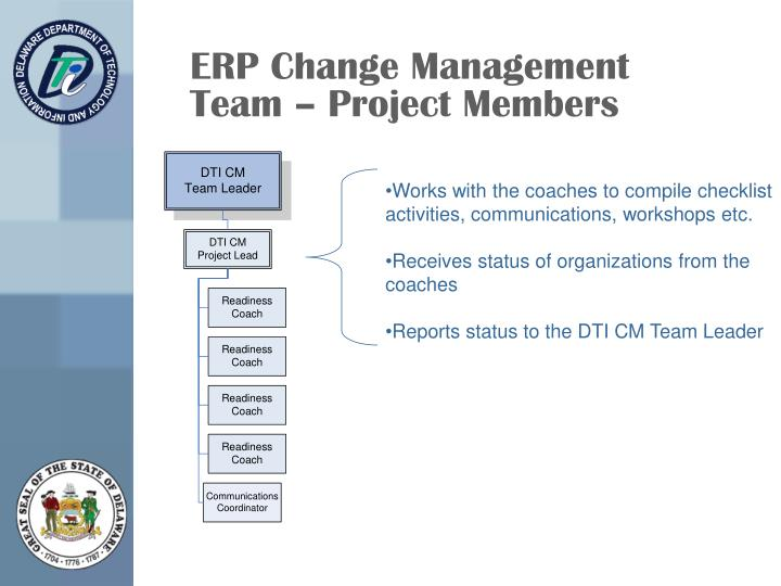 ERP Change Management Team – Project Members