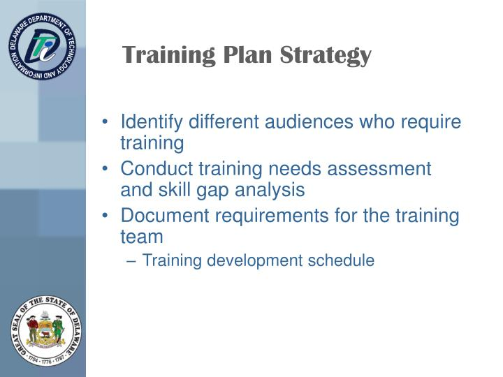 Training Plan Strategy