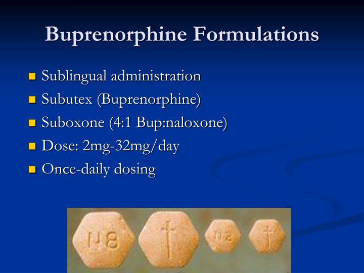Buprenorphine Formulations
