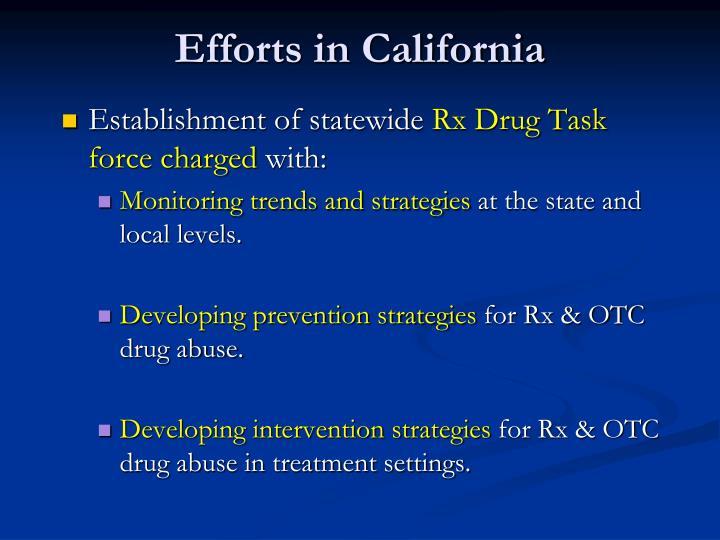 Efforts in California