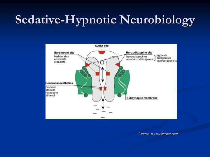 Sedative-Hypnotic Neurobiology