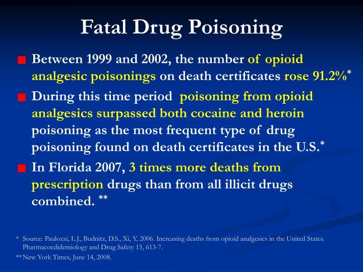 Fatal Drug Poisoning