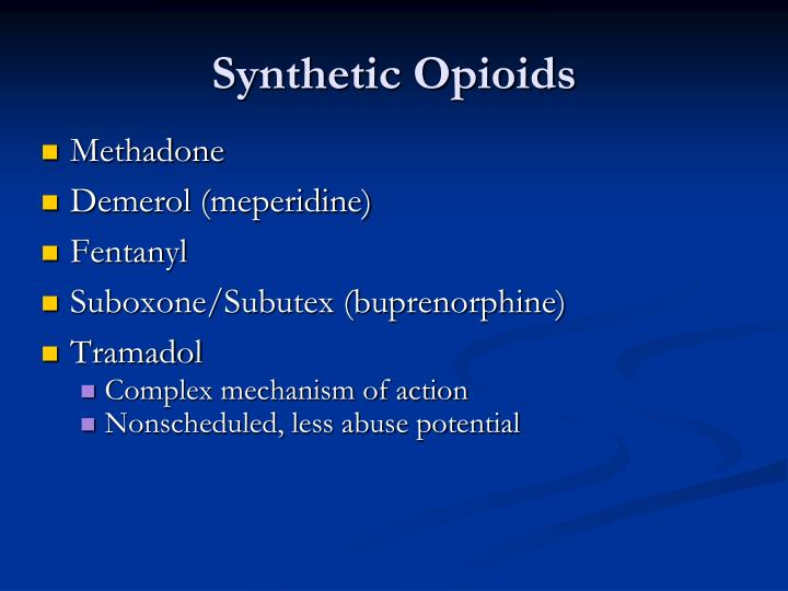 Synthetic Opioids
