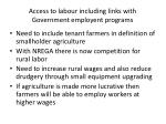 access to labour including links with government employent programs
