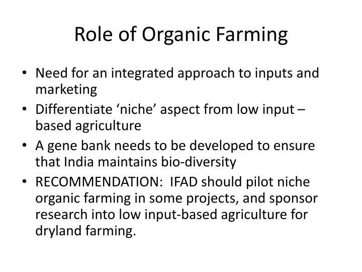 Role of Organic Farming