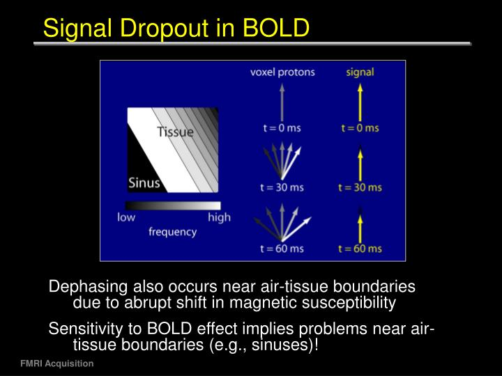 Signal Dropout in BOLD