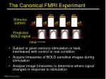 the canonical fmri experiment