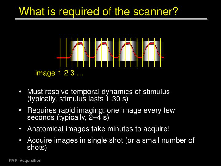 What is required of the scanner?