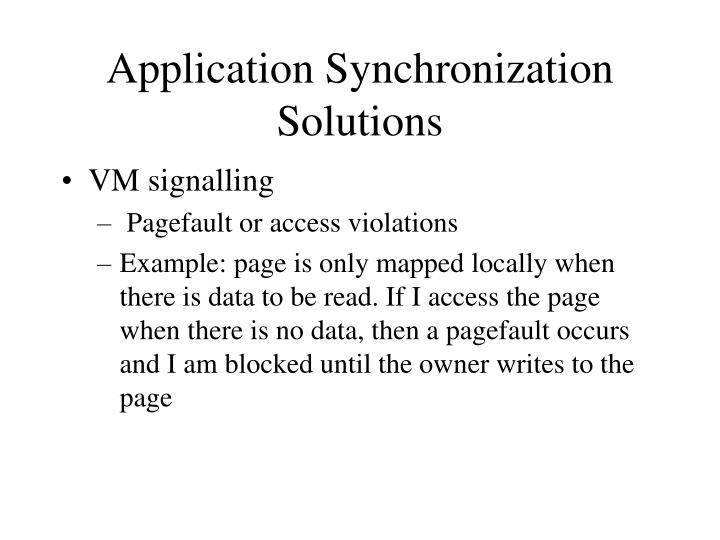 Application Synchronization Solutions