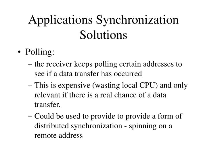 Applications Synchronization