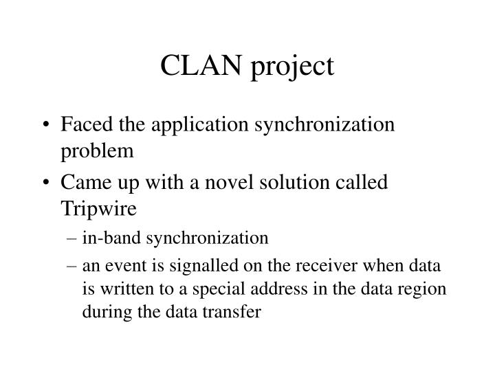 CLAN project
