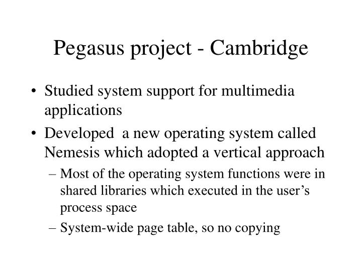 Pegasus project - Cambridge