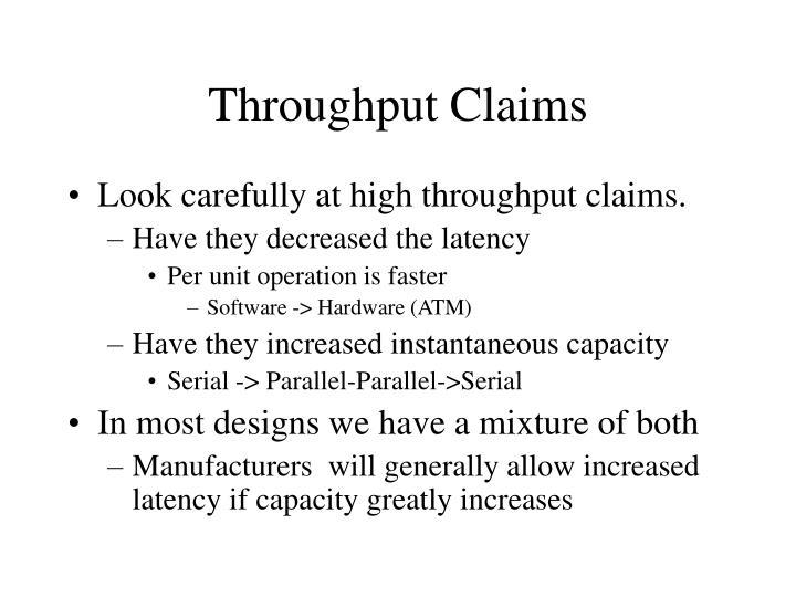 Throughput Claims