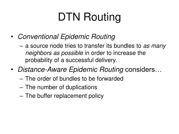 DTN Routing