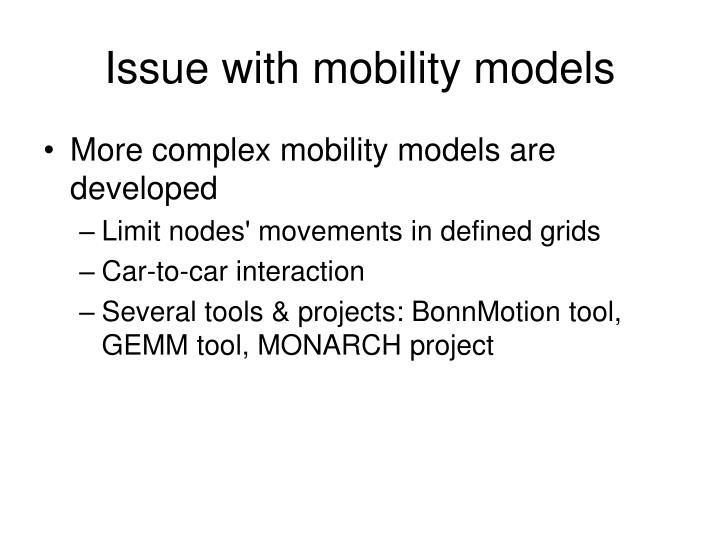 Issue with mobility models