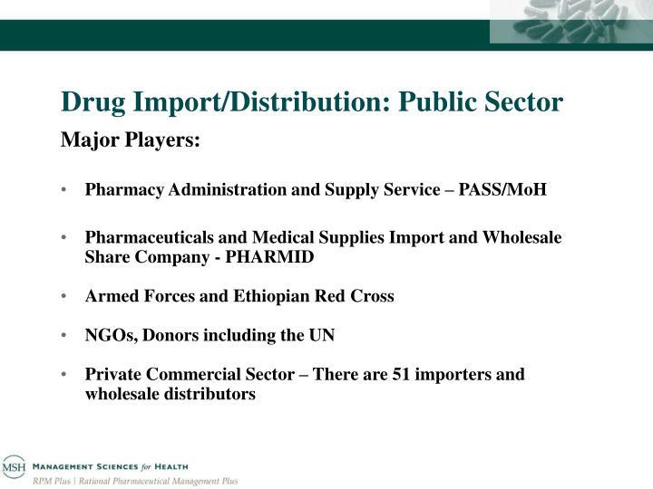 Drug Import/Distribution: Public Sector