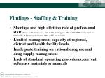 findings staffing training