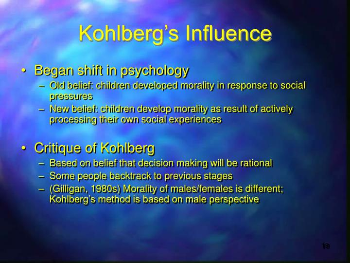 Kohlberg's Influence