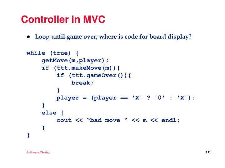 Controller in MVC
